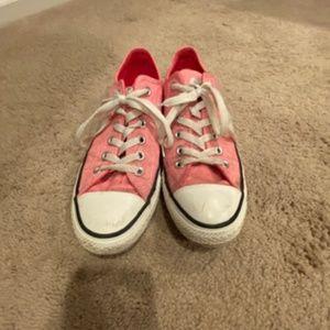 Pink Canvas Converse - Excellent condition